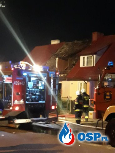 Kilku strażaków rannych po wybuchu butli z gazem w Cieszynie Łobeskim OSP Ochotnicza Straż Pożarna
