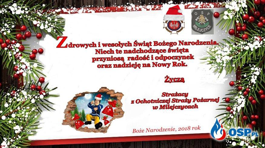 Życzenia Bożonarodzeniowe OSP Ochotnicza Straż Pożarna