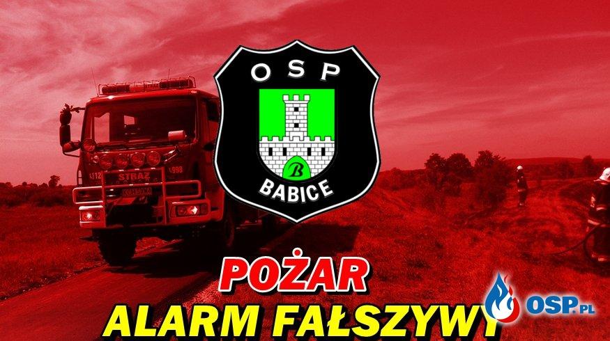 Alarm fałszywy- ul. Stroma w Babicach OSP Ochotnicza Straż Pożarna