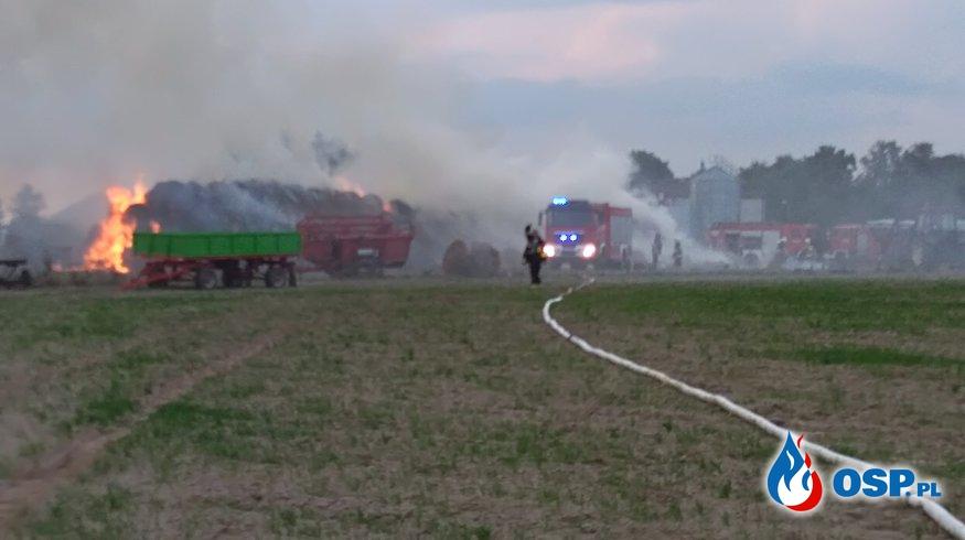 Pożar bel słomy OSP Ochotnicza Straż Pożarna