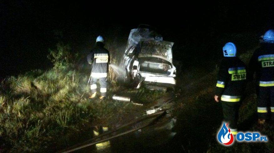 Pożar auta - Suszewo OSP Ochotnicza Straż Pożarna