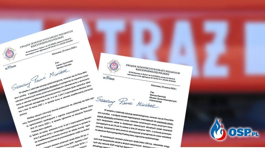 ZOSP RP apeluje o zawieszenie obowiązkowych badań i egzaminów KPP OSP Ochotnicza Straż Pożarna