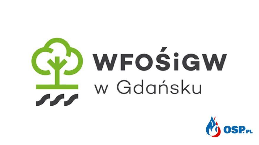 Dotacja celowa dla Ochotniczej Straży Pożarnej w Sadlinkach pochodząca ze środków Wojewódzkiego Funduszu Ochrony Środowiska i Gospodarki Wodnej w Gdańsku OSP Ochotnicza Straż Pożarna