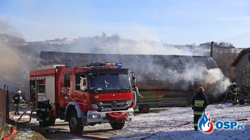 Strażak OSP i PSP potrzebuje pomocy po pożarze w gospodarstwie OSP Ochotnicza Straż Pożarna