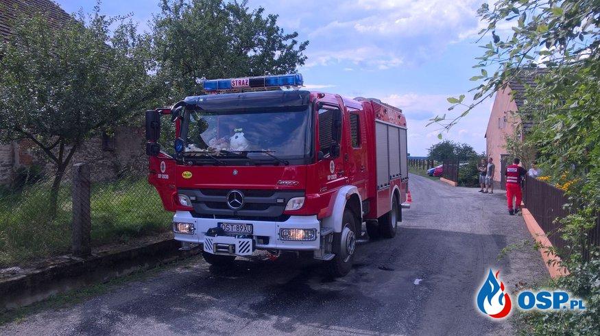 Wypadek z udziałem motocykla w Ligocie Górnej OSP Ochotnicza Straż Pożarna