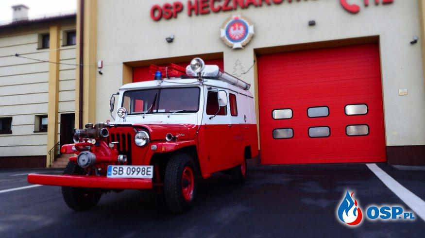 Zabytkowy pojazd pożarniczy Willys z 1959 roku na aukcji WOŚP. To gratka dla kolekcjonerów. OSP Ochotnicza Straż Pożarna