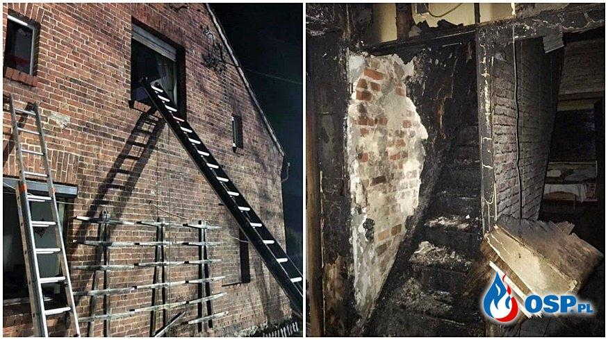 Mężczyzna podpalił budynek, ogień uwięził dzieci na piętrze OSP Ochotnicza Straż Pożarna