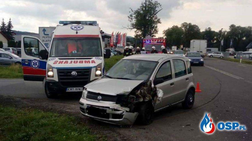 Wypadek na DK52 w Biertowicach. OSP Ochotnicza Straż Pożarna