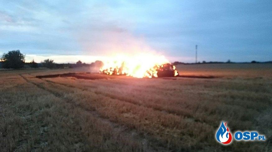 122/2019 Pożar sterty słomy w Strzeszowie OSP Ochotnicza Straż Pożarna