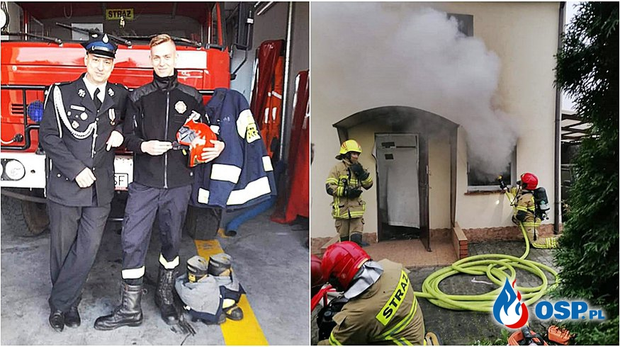 Potrzebna pomoc dla strażaka OSP Susz. W jego domu wybuchł pożar. OSP Ochotnicza Straż Pożarna