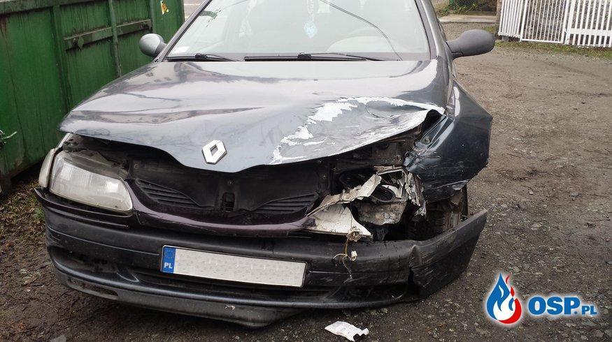 2 osoby ranne w kolizji OSP Ochotnicza Straż Pożarna