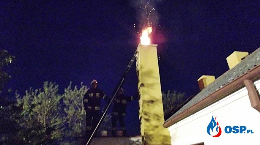 Pożar sadzy w kominie. Jak zapobiegać? Jak gasić? OSP Ochotnicza Straż Pożarna