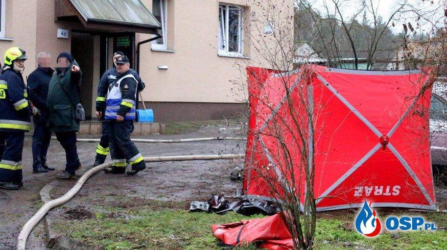 Strażak OSP Trzęsów zginął w pożarze mieszkania OSP Ochotnicza Straż Pożarna