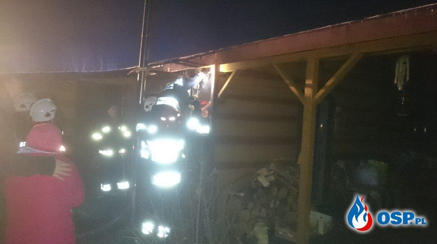 Pożar dom letniskowego OSP Ochotnicza Straż Pożarna