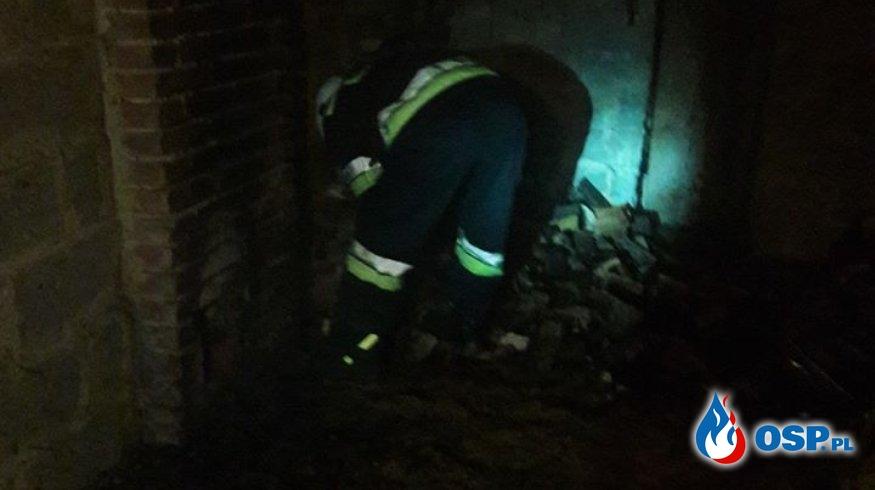 Pożar składu drewna w Siedliskach OSP Ochotnicza Straż Pożarna