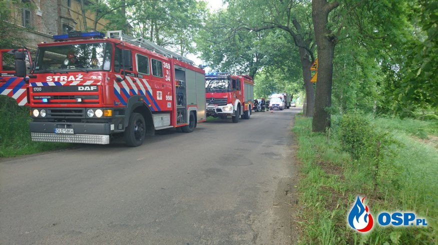 Wypadek w Pątnówku! OSP Ochotnicza Straż Pożarna