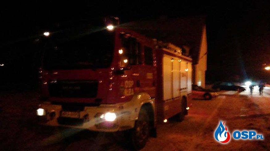 Fałszywy alarm pożarowy i plama oleju OSP Ochotnicza Straż Pożarna