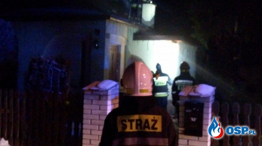 Pożar komina w Hanusku  OSP Ochotnicza Straż Pożarna