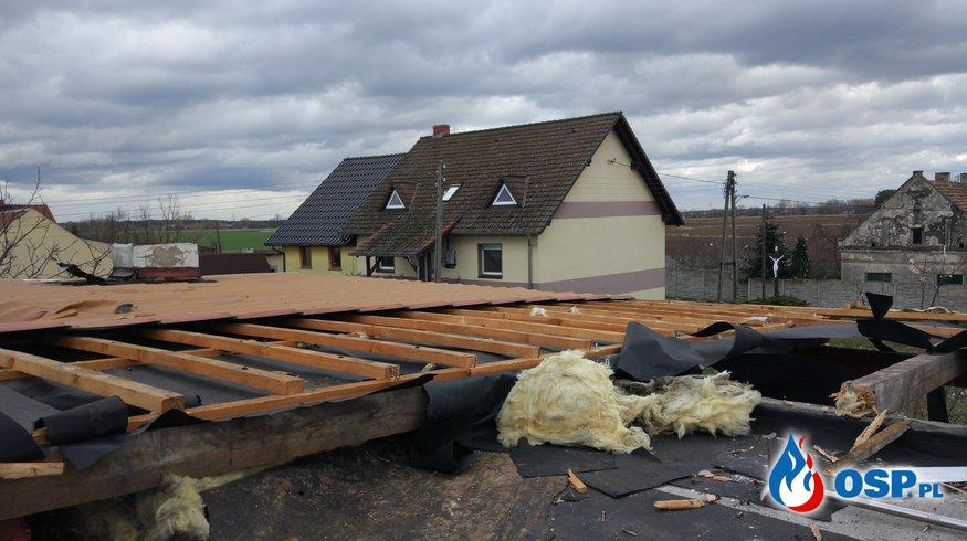silne wiatry w Gminie Prószków OSP Ochotnicza Straż Pożarna