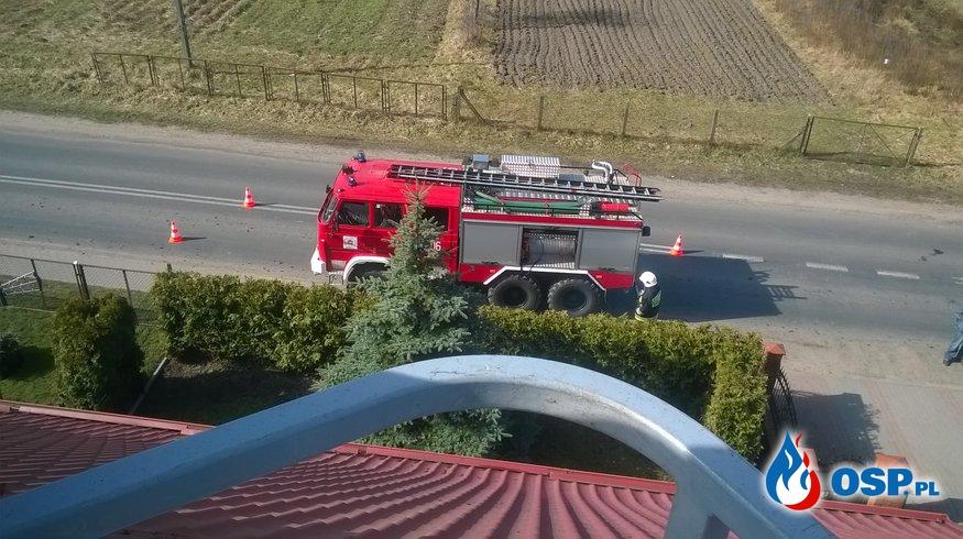 Pożar przewodu kominowego m.Bińcze 26.03.2017r. OSP Ochotnicza Straż Pożarna
