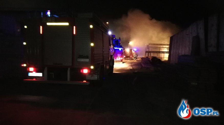 Pożar hali produkcyjnej-Tartak w Bytnicy OSP Ochotnicza Straż Pożarna