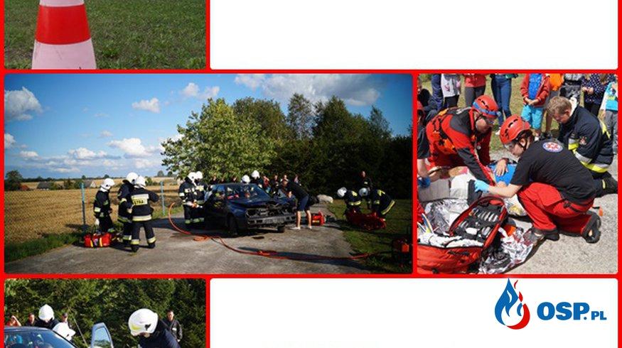 Wypadek drogowy na DK 22. OSP Ochotnicza Straż Pożarna
