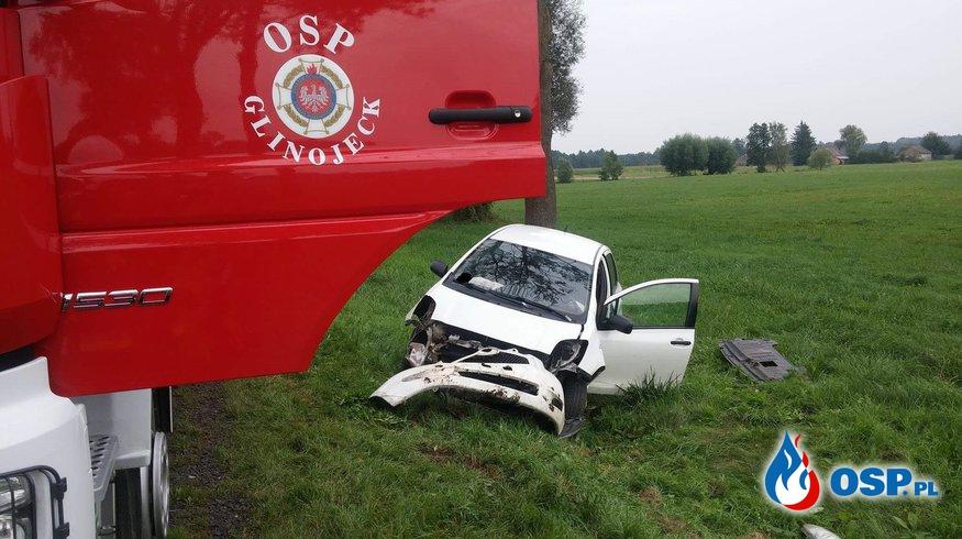 Kolizja drogowa na drodze nr 60 w Dreglinie OSP Ochotnicza Straż Pożarna