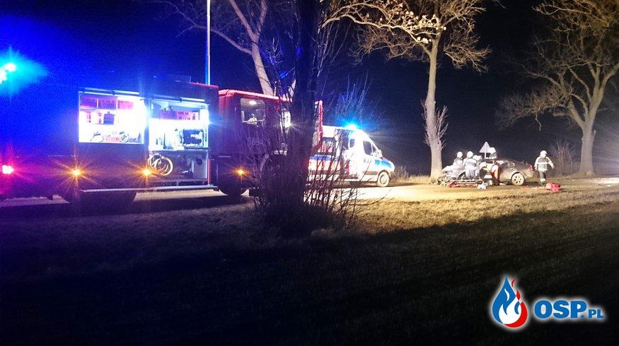 Wypadek drogowy - DW 262 Myślątkowo OSP Ochotnicza Straż Pożarna