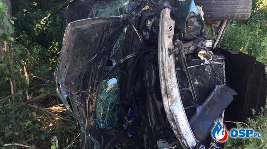 Wypadek drogowy - LPR w akcji OSP Ochotnicza Straż Pożarna