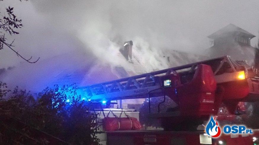 Pożar przedszkola w Zdzięsławicach. Interweniowało kilkanaście zastępów OSP i PSP. OSP Ochotnicza Straż Pożarna