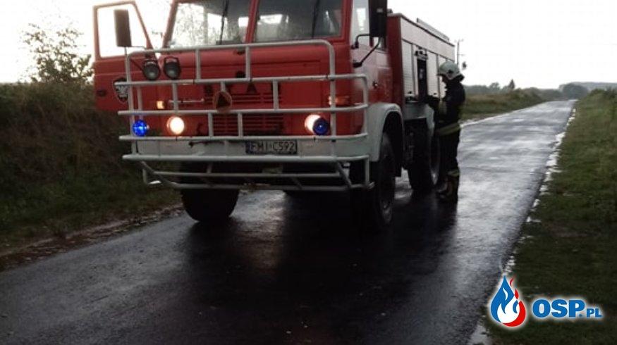Połamane drzewa OSP Ochotnicza Straż Pożarna