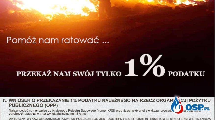Przekaż nam swój 1% podatku OSP Ochotnicza Straż Pożarna