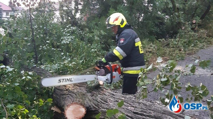 Mnóstwo interwencji po przejściu burzy nad gminą Biała OSP Ochotnicza Straż Pożarna