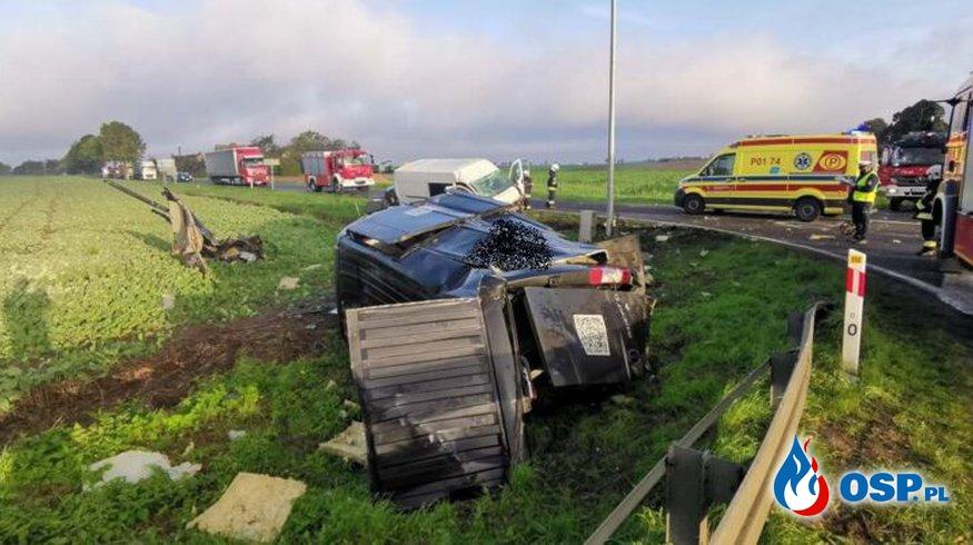 Dobrojewo-Wierzchocin – wypadek drogowy, dwie osoby poszkodowane OSP Ochotnicza Straż Pożarna