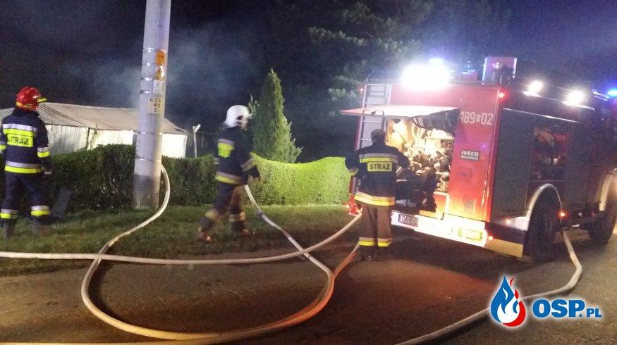 Pożar budynku stolarni w Czartowicach OSP Ochotnicza Straż Pożarna