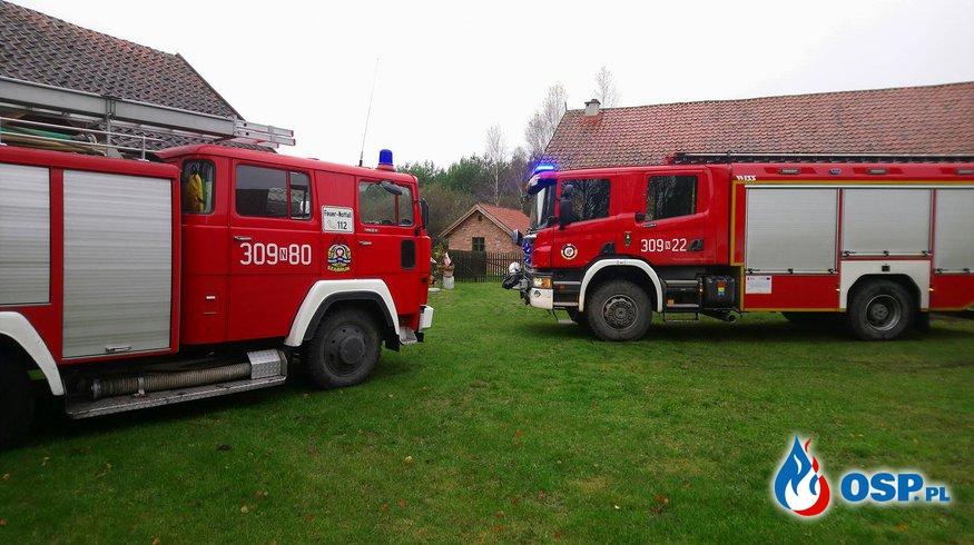 Pożar budynku jednorodzinnego!  OSP Ochotnicza Straż Pożarna