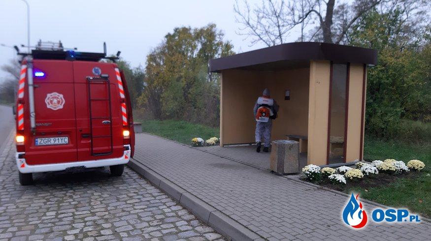 Dezynfekcja miejsc publicznych OSP Ochotnicza Straż Pożarna