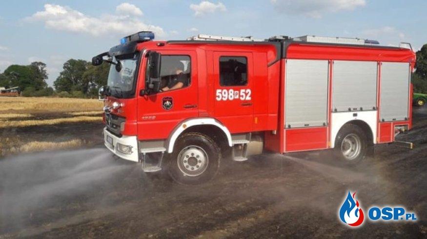 Ordzin – pożar ścierniska i zboża na pniu OSP Ochotnicza Straż Pożarna