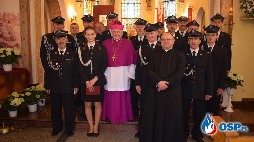 Wizytacja Biskupa Kaliskiego w naszej Parafii OSP Ochotnicza Straż Pożarna