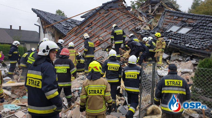 Eksplozja gazu w Kobiernicach. Jedna osoba zginęła, 5 osób w szpitalu. OSP Ochotnicza Straż Pożarna