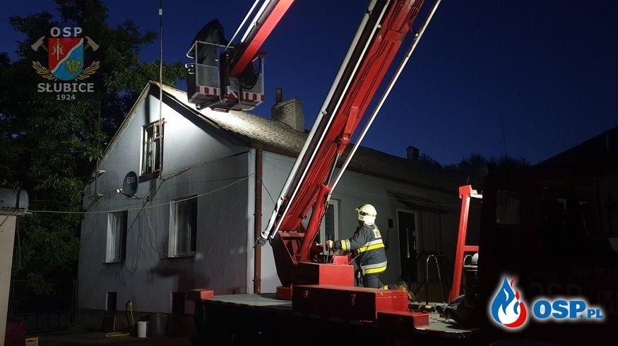 Owady zbudowały sobie dom w kominie OSP Ochotnicza Straż Pożarna