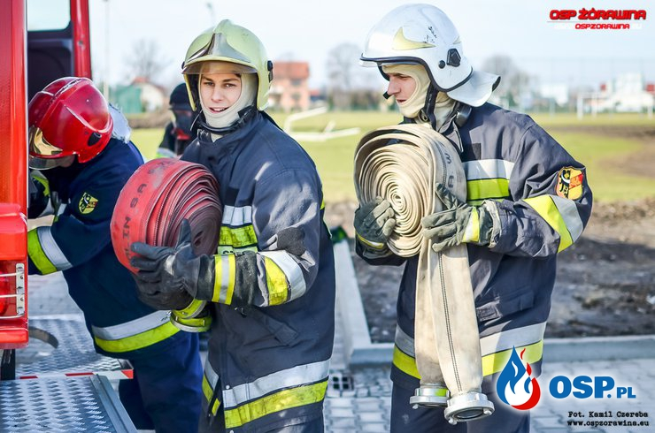 07.02.2016 - ćwiczenia w żórawińskim gimnazjum OSP Ochotnicza Straż Pożarna