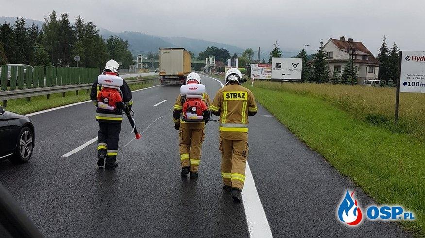 Dwa wyjazdy do groźnych plam substancji ropopochodnych - 17 czerwca 2020r. OSP Ochotnicza Straż Pożarna