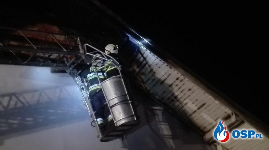 Pożar budynku jednorodzinnego. OSP Ochotnicza Straż Pożarna