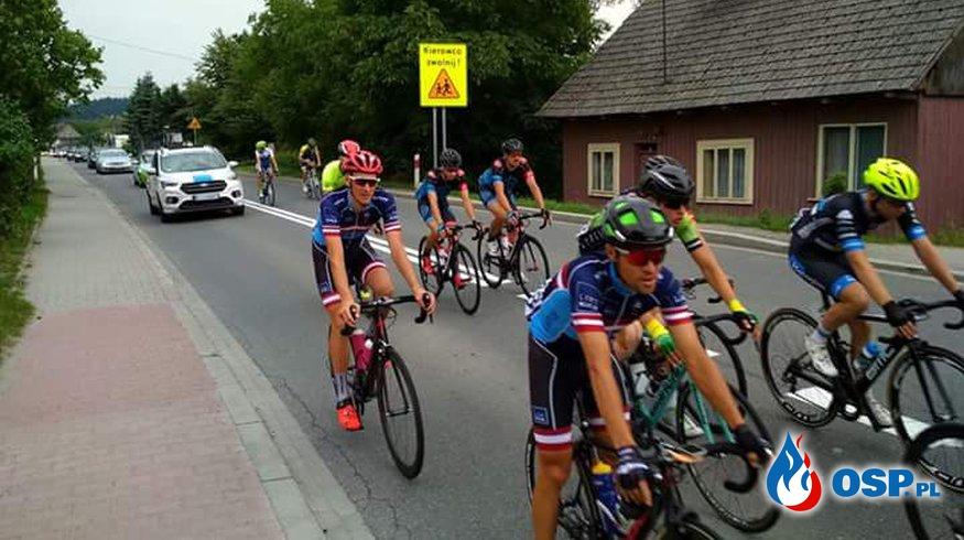 Zabezpieczenie wyścigu kolarskiego solidarności i olimpijczyków w Biertowicach OSP Ochotnicza Straż Pożarna