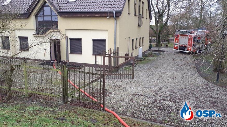 Grodziszczko - zalana piwnica OSP Ochotnicza Straż Pożarna
