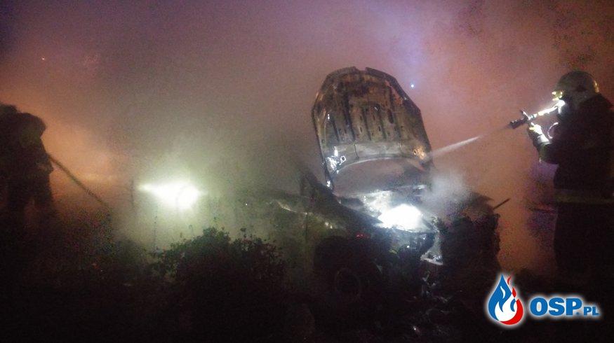 Pożar samochodu osobowego - Samborowo OSP Ochotnicza Straż Pożarna