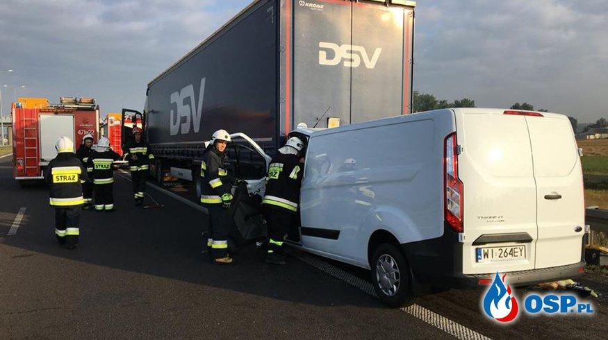 Wypadek Autostrada A-2! MOP Police OSP Ochotnicza Straż Pożarna