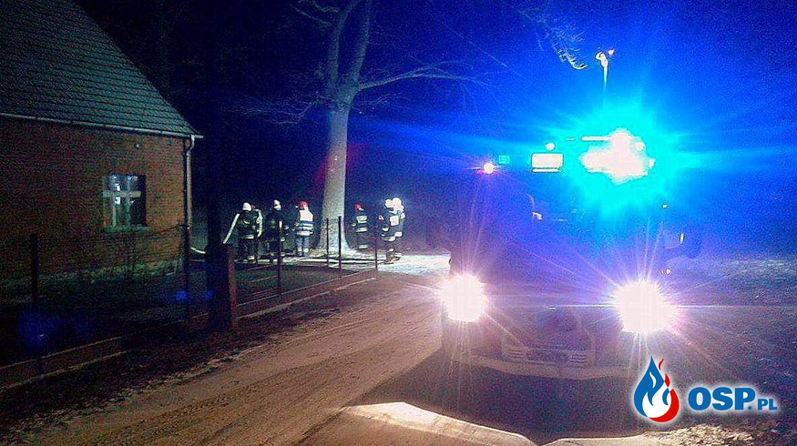 Pożar stosu drewna OSP Ochotnicza Straż Pożarna