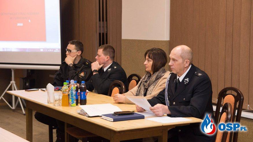 Walne zebranie sprawozdawcze za rok 2018 OSP Ochotnicza Straż Pożarna